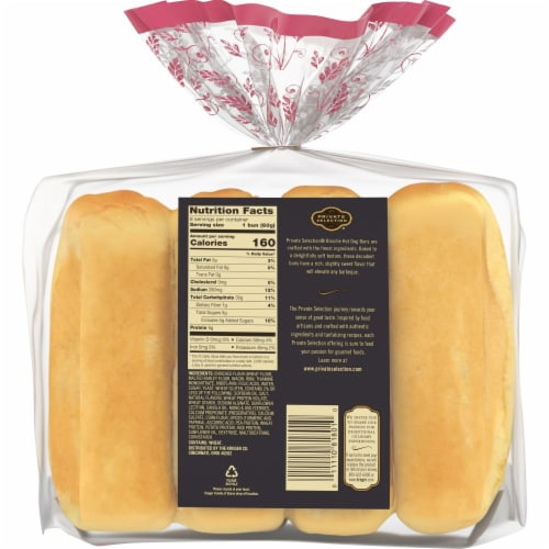 Private Selection® Brioche Hot Dog Buns Perspective: back