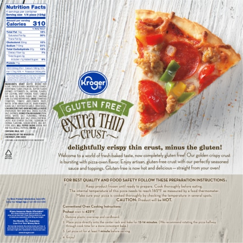 Kroger® Gluten Free Extra Thin Crust Supreme Pizza Perspective: back