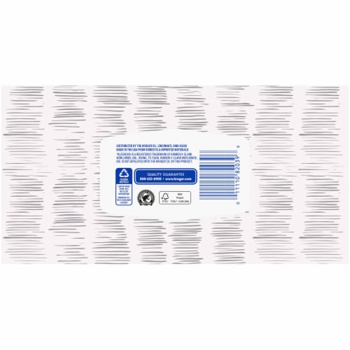Kroger® White Unscented Facial Tissues Box Perspective: back