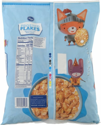 Kroger® Frosted Flakes Cereal Perspective: back