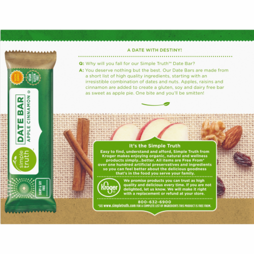 Simple Truth™ Apple Cinnamon Chewy Date Bars 5 Count Perspective: back