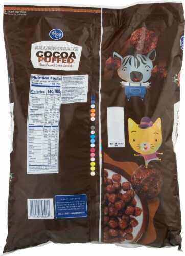 Kroger® Cocoa Puffed Cereal Perspective: back