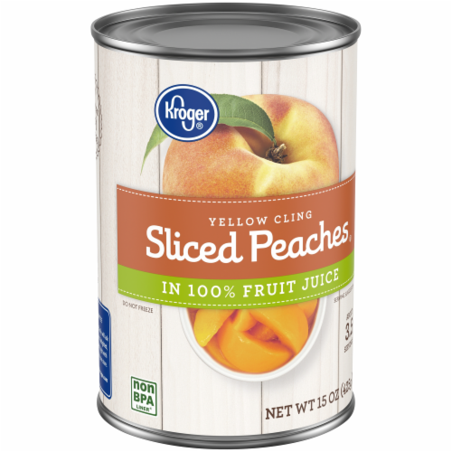 Kroger® Yellow Cling Sliced Peaches in Fruit Juice Perspective: back