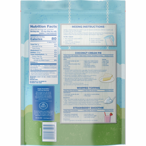 Kroger® Instant Non-Fat Dry Milk Perspective: back