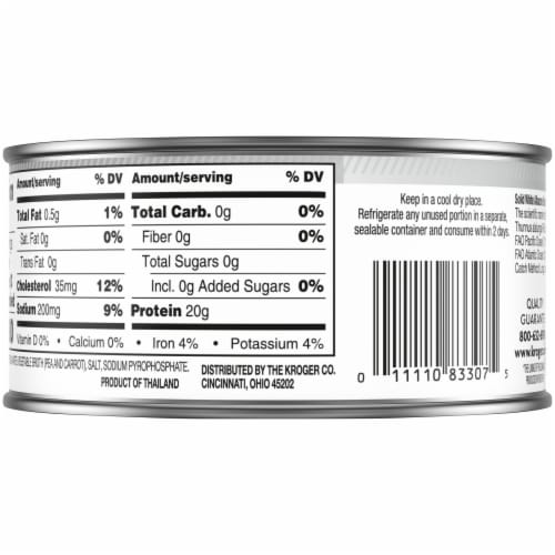Kroger® Solid White Wild Caught Albacore Tuna in Water Perspective: back