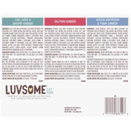 Luvsome® Seafood Variety Pack Wet Cat Food Perspective: back