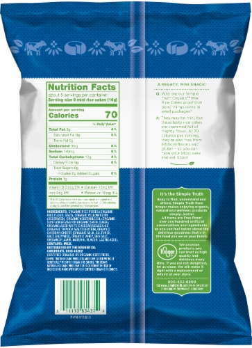 Simple Truth Organic™ Aged White Cheddar Mini Rice Cakes Perspective: back
