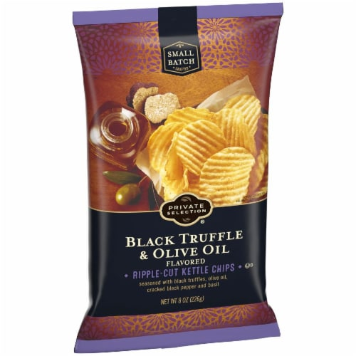 Private Selection® Black Truffle & Olive Oil Ripple-Cut Kettle Chips Perspective: back