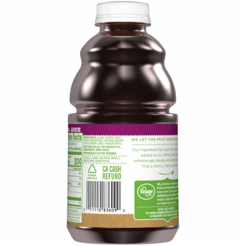 Simple Truth™ 100% Black Cherry Juice Perspective: back