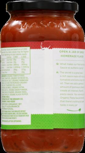 Simple Truth Organic™ Marinara Pasta Sauce Perspective: back