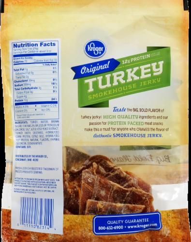 Kroger Turkey Smokehouse Jerky Perspective: back