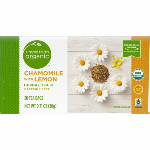 Simple Truth Organic™ Chamomile with Lemon Herbal Tea Bags Perspective: back