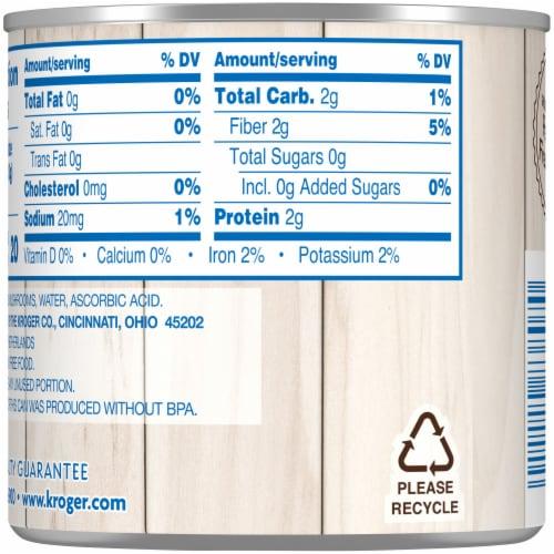 Kroger® No Salt Added Mushrooms Pieces & Stems Perspective: back