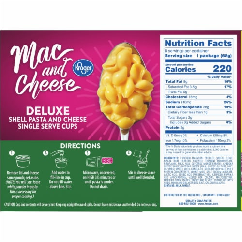 Kroger® Mac and Cheese Deluxe Single Serve Cups Perspective: back