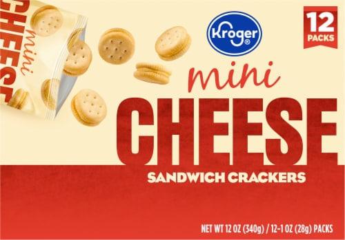 Kroger® Mini Cheese Sandwich Crackers Perspective: back