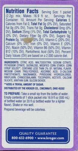 Kroger®  Grape Fitness Drink Mix Packets Perspective: back