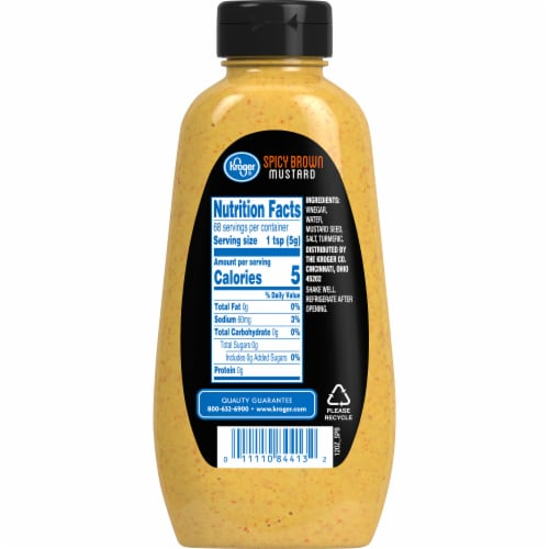 Kroger® Spicy Brown Mustard Perspective: back