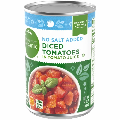 Simple Truth Organic® No Salt Added Diced Tomatoes In Tomato Juice Perspective: back