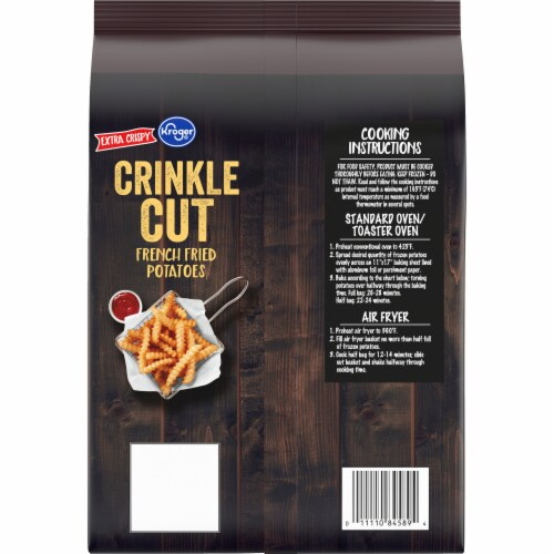 Kroger® Extra Crispy Crinkle Cut French Fries Perspective: back