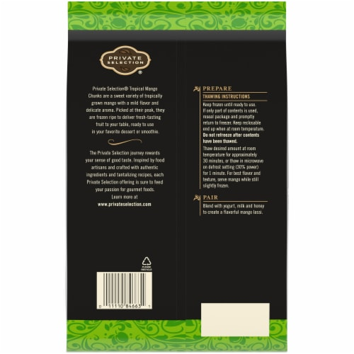 Private Selection® Tropical Mango Chunks Perspective: back