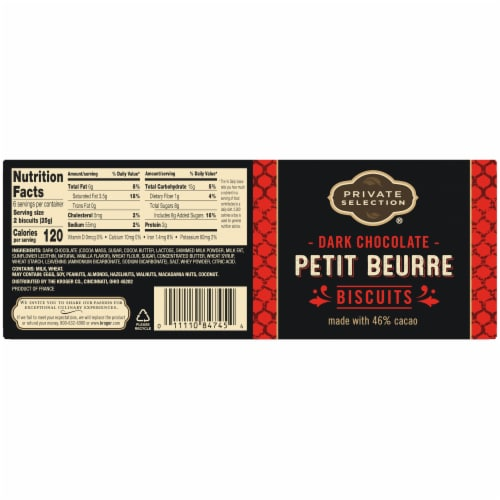 Private Selection® Dark Chocolate Petit Beurre Biscuits Perspective: back