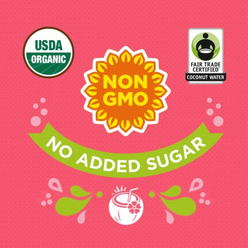 Simple Truth Organic™ Watermelon Sparkling Coconut Water Perspective: back