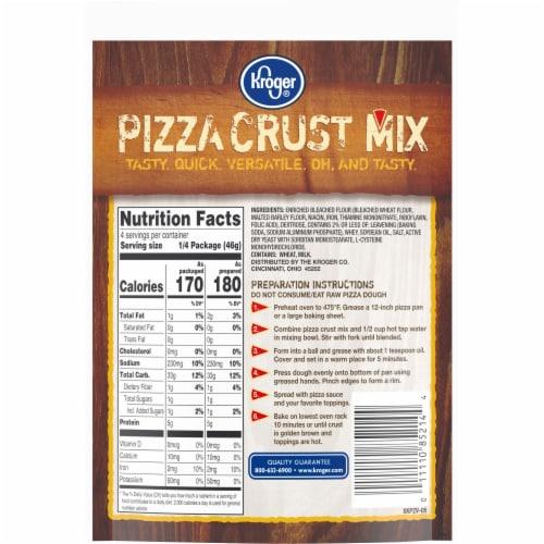 Kroger® Pizza Crust Mix Perspective: back