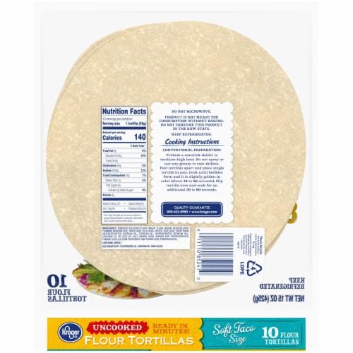 Kroger® Uncooked Flour Tortillas Perspective: back
