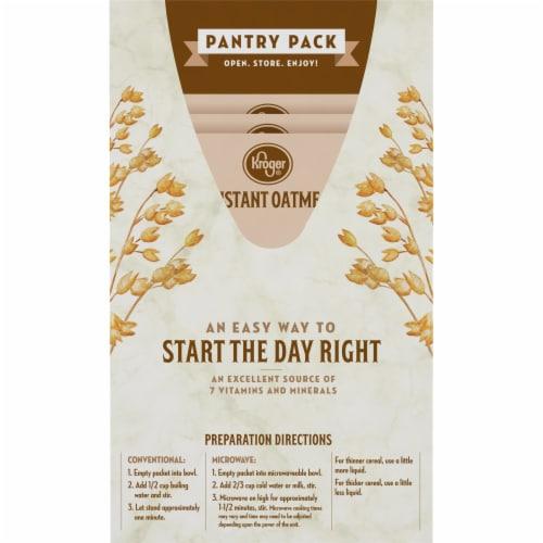 Kroger® Apples & Cinnamon Instant Oatmeal Perspective: back
