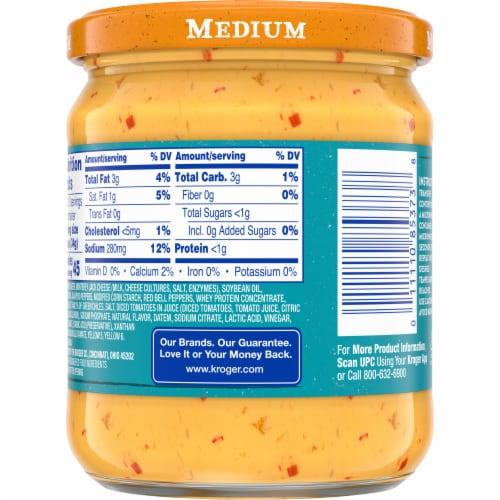 Kroger Medium Salsa Con Queso Cheese Dip Perspective: back