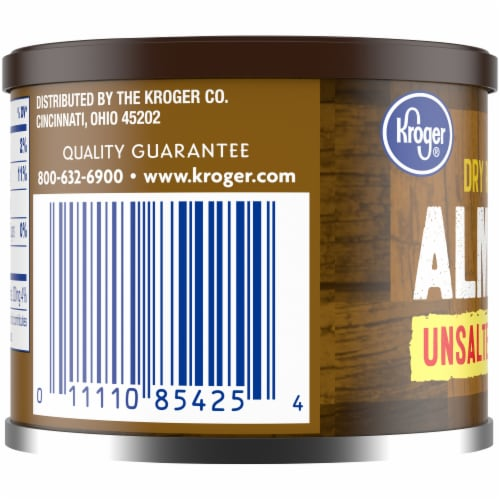 Kroger® Unsalted Dry Roasted Almonds Perspective: back