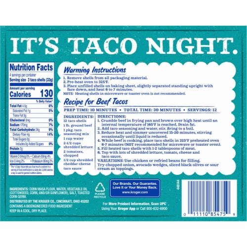 Kroger® Original Crisp Taco Shells Perspective: back