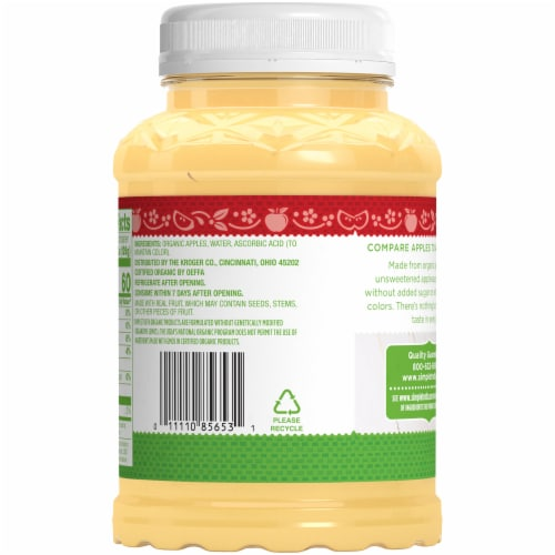 Simple Truth Organic™ Unsweetened Applesauce Perspective: back