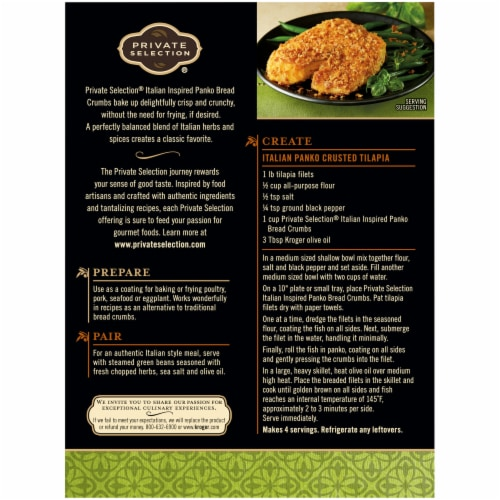 Private Selection® Italian Panko Bread Crumbs Perspective: back