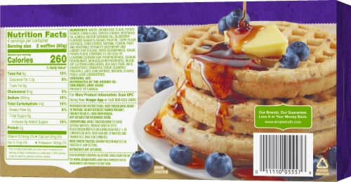 Simple Truth™ Gluten Free Blueberry Waffles Perspective: back