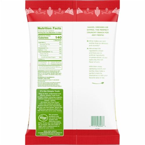 Simple Truth Organic® Gluten Free White Corn Tortilla Chips Perspective: back