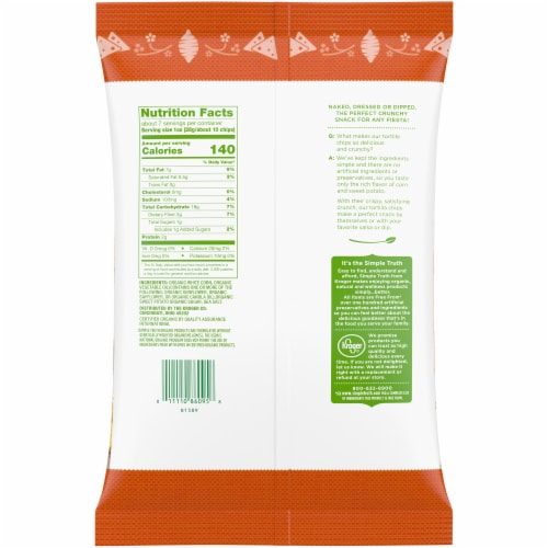 Simple Truth Organic® Sweet Potato Corn Tortilla Chips Perspective: back
