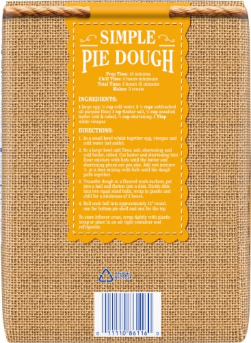 Kroger® Unbleached All Purpose Enriched Flour Perspective: back