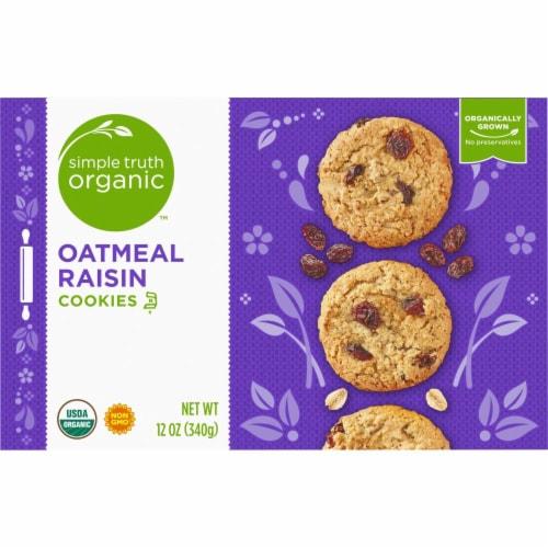 Simple Truth Organic™ Oatmeal Raisin Cookies Perspective: back