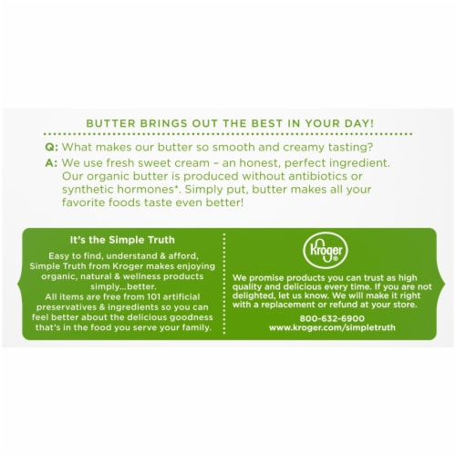 Simple Truth Organic™ Unsalted Butter Perspective: back