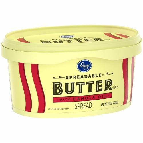 Kroger® Spreadable Butter with Canola Oil Perspective: back