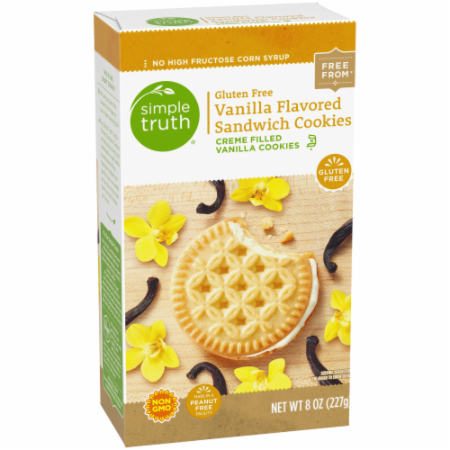 Simple Truth® Gluten Free Vanilla Flavored Sandwich Cookies Perspective: back