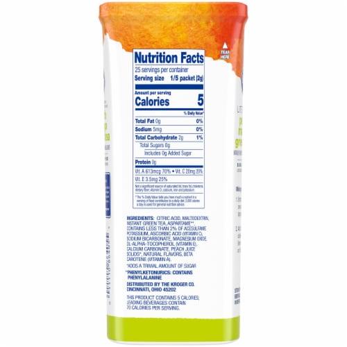 Kroger® Lite Peach Mango Green Tea Instant Drink Mix Packets Perspective: back