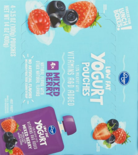 Kroger® Low Fat Mixed Berry Yogurt Pouches Perspective: back
