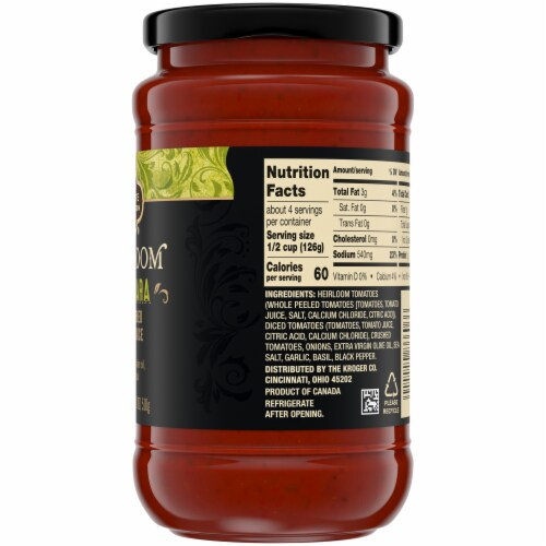 Private Selection® Heirloom Marinara Vine-Ripened Tomato Sauce Perspective: back