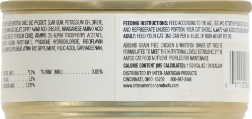 ABOUND™ Grain Free Chicken & Whitefish Dinner Wet Cat Food Perspective: back