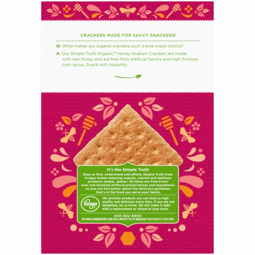 Simple Truth Organic™ Honey Graham Crackers Perspective: back
