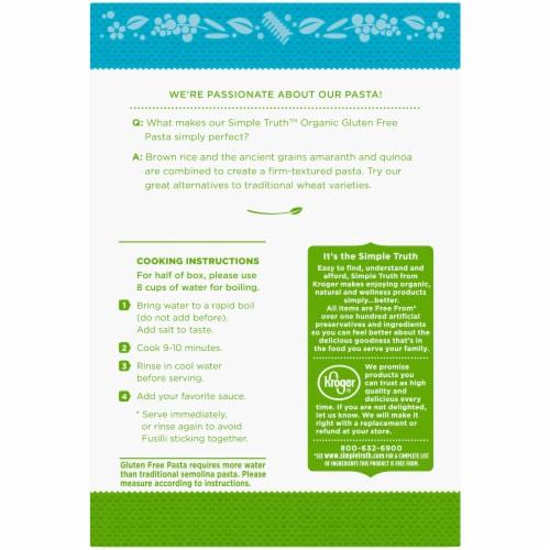 Simple Truth Organic™ Gluten Free Fusilli Pasta Perspective: back