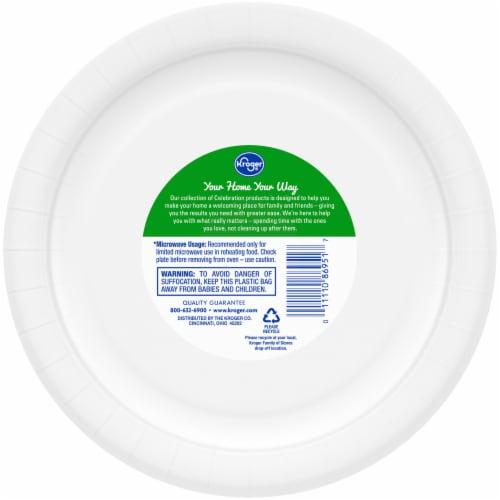 Kroger® Designer Paper Plates Perspective: back