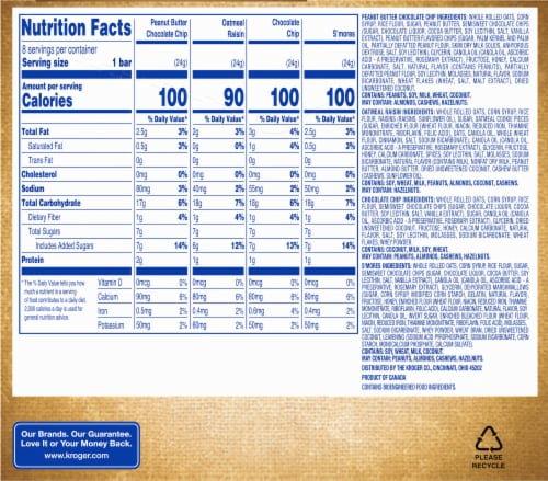 Kroger® Chewy Granola Bars Variety Pack Perspective: back